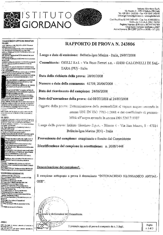 SILOXAN GIOLLI — IST. GIORDANO — 2008-korr
