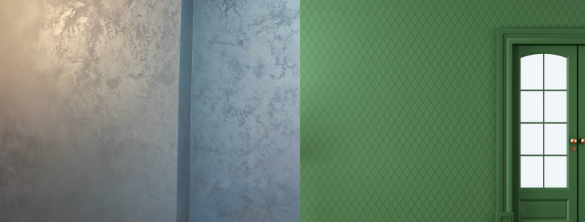 декоративная штукатурка или обои на стену - комтеко
